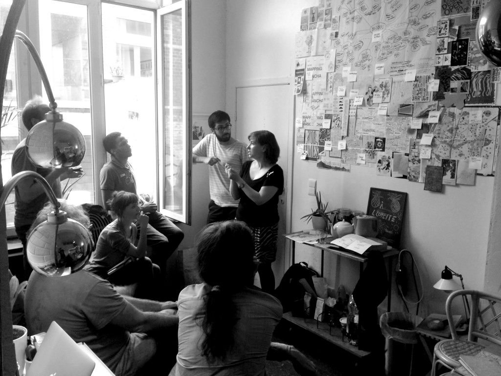 Séance de co-création, phase de recherche pour l'identité visuelle de Brusseau